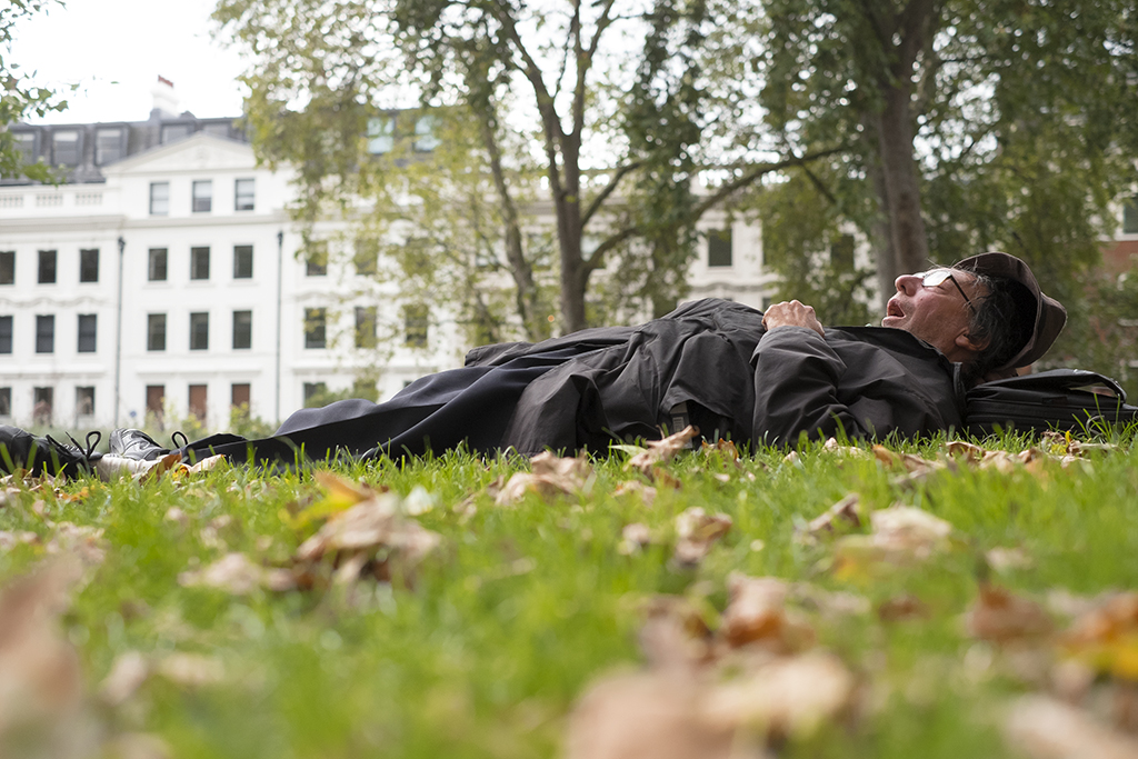 ASLEEP IN THE PARK 2. Bloomsbury Square Gardens, London 2015